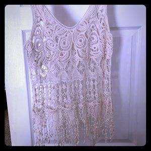 Off white Crochet Top! $6